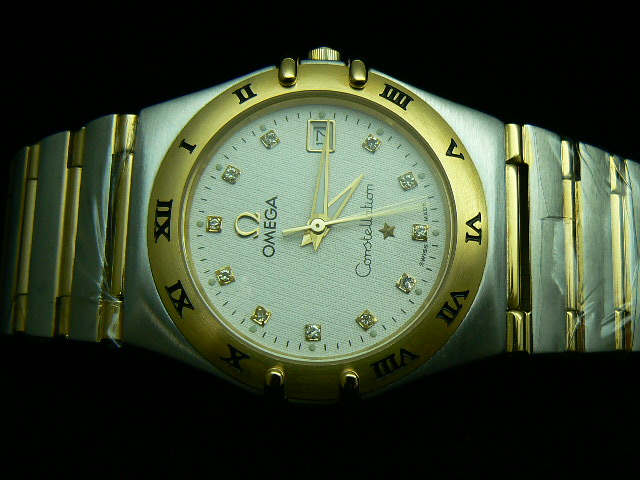 OMEGA CONSTELLATION QUARTZ MEN WHITE DIAL DIAMOND