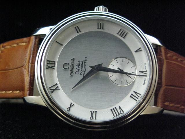 OMEGA DEVILLE CO-AXIAL HAND WINDING GREY DIAL LEATHER