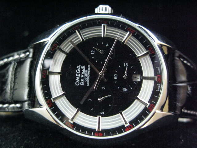 OMEGA DEVILLE CO-XAIL AUTO ch rONO BLACK LEATHER