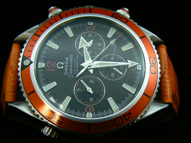 OMEGA 8PLANET OCEAN AUTOMATIC ORANGE BEZEL