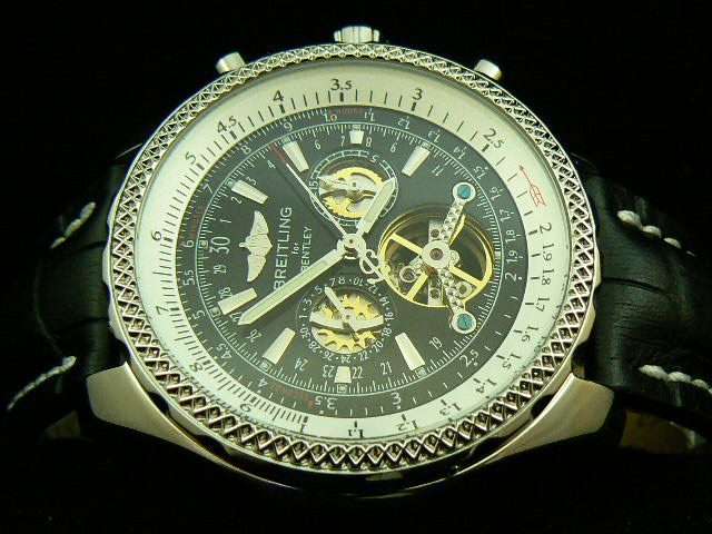 BREITLING BENTLEY MOTOR TOURBILLON SWISS CASE BLACK LEA