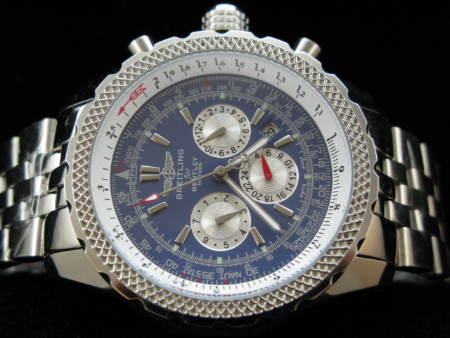 BREITLING BENTLEY AUTO BLUE DIAL SS