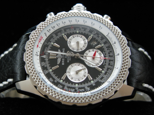 BREITLING BENTLEY AUTO BLACK DIAL LEATHER