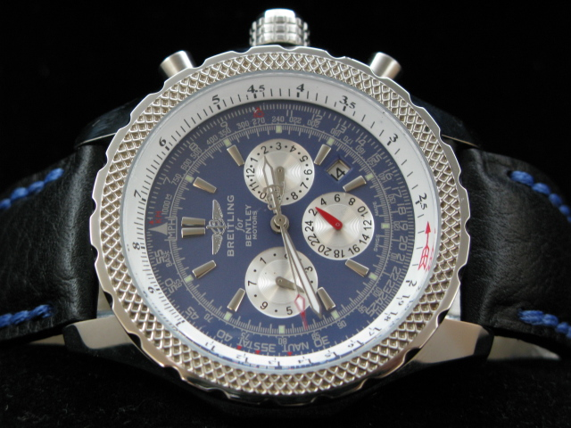 BREITLING BENTLEY AUTO BLUE DIAL LEATHER
