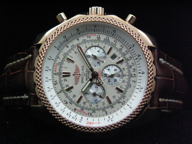 BREITLING BENTLEY AUTO WHITE DIAL BROWN LEATHER