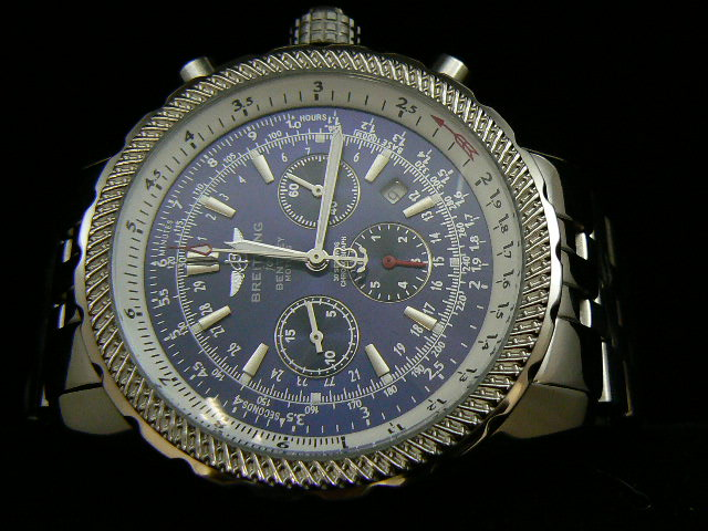 BREITLING BENTLEY 30S ch rONO AUTOMATIC BLUE DIAL BRACEL