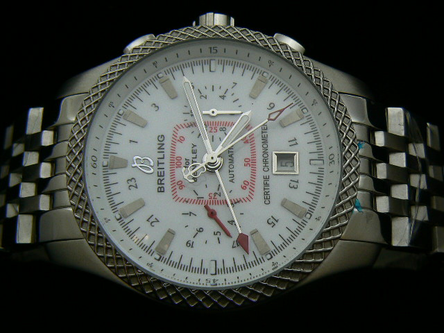 BREITLING BENTLEY ch rONO AUTOMATIC WHITE DIAL