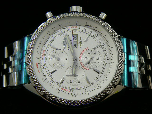 BREITLING BENTLEY AUTOMATIC WHITE WITH BRACELET