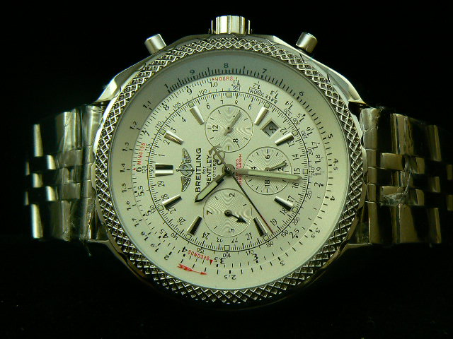 BREITLING BENTLE 30S ch rONO AUTOMATIC WHITE DIAL BRACE