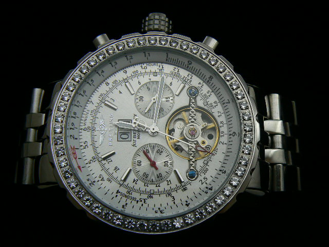 BREITLING BENTLEY MOTORS AUTOMATIC WHITE DIAMOND BEZEL