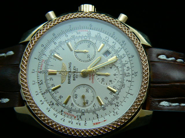 BREITLING BENTLEY ch rONO GOLD WHITE 7750  AAA