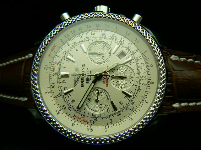 BREITLING BENTLEY MOTOR ch rONO LEATHER WHITE 7750 AAA