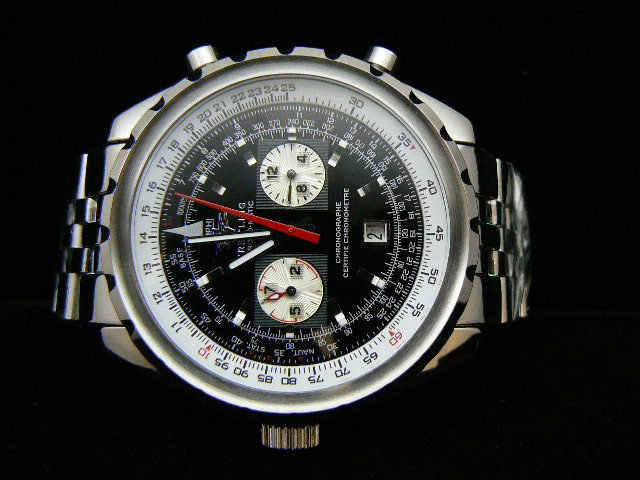 BREITLING ch rONO-MATIC AUTOMATIC BLACK 2 SUBDIAL