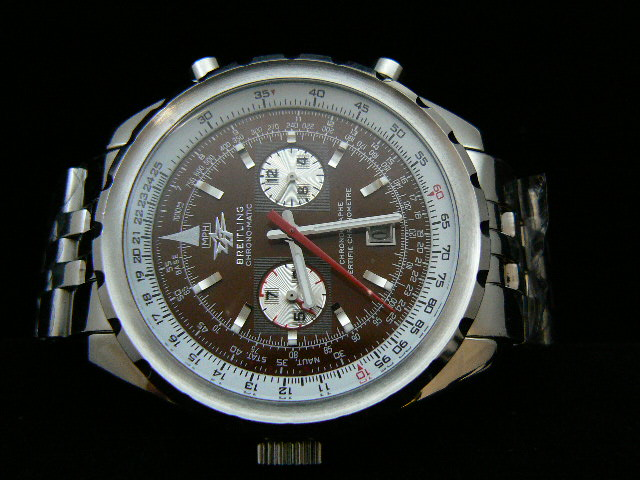 BREITLING ch rONO-MATIC AUTOMATIC BROWN 2 SUBDIAL