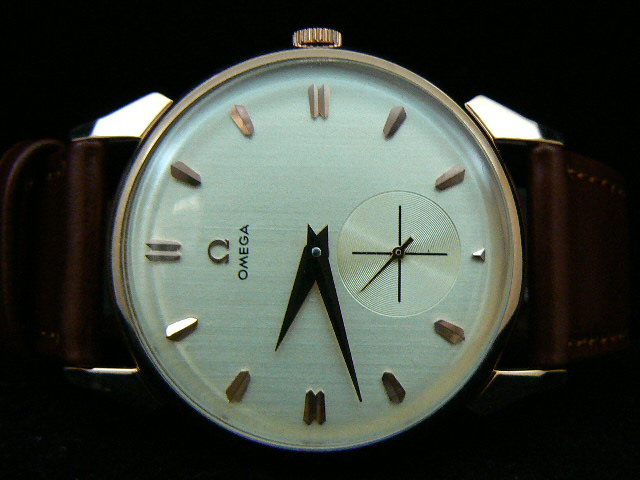 OMEGA CLASSIC AUTOMATIC BROWN LEATHER aaa