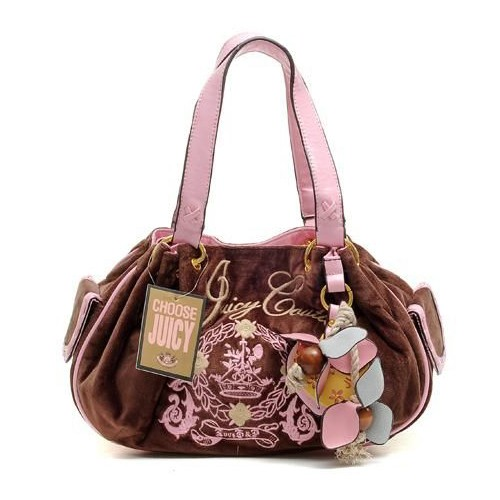 Juicy Couture Butterfly Heart Baby Fluffy Handbag Coffe