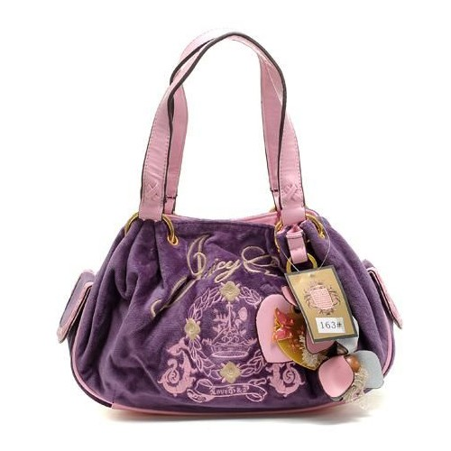 Juicy Couture Butterfly Heart Baby Fluffy Handbag Purpl