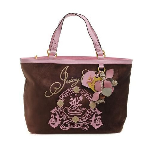 Juicy Couture Butterfly Heart cha rmed Tote Bag Coffee-P