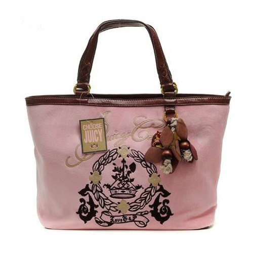 Juicy Couture Butterfly Heart cha rmed Tote Bag Pink