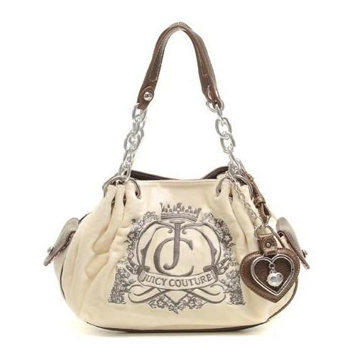 Juicy Couture Crown Crest Baby Fluffy Handbag Chic Crea
