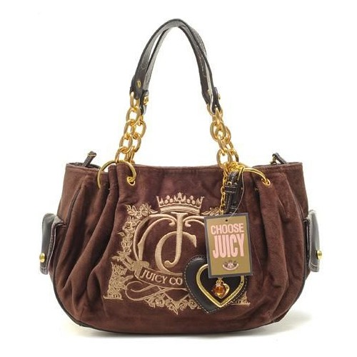 Juicy Couture Crown Crest Free Style Handbag Coffee