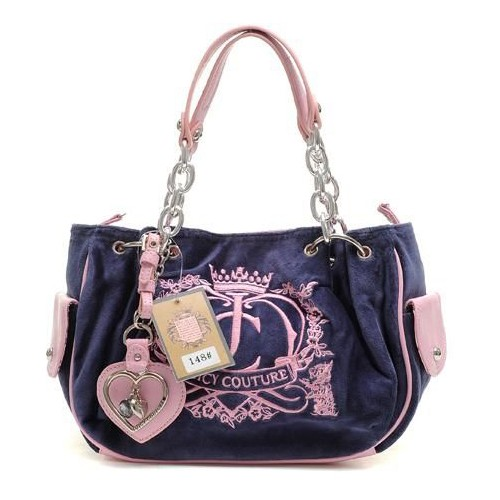 Juicy Couture Crown Crest Free Style Handbag Navy