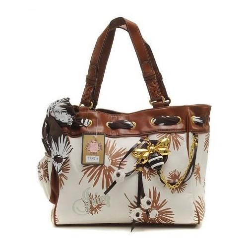 Juicy Couture Daisy Print Daydreamer Handbag White