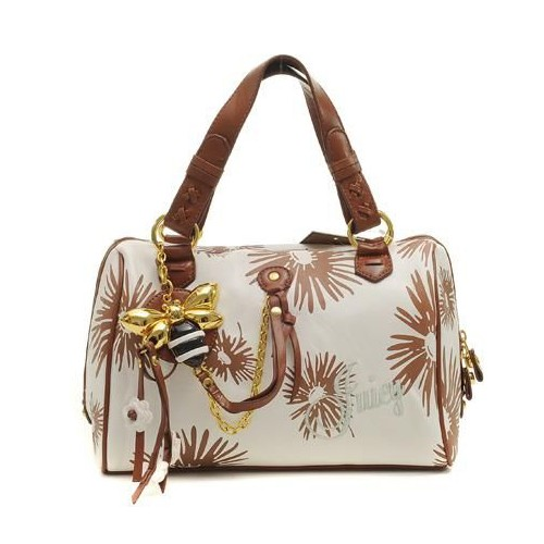 Juicy Couture Daphne Daisy Print Handbag White