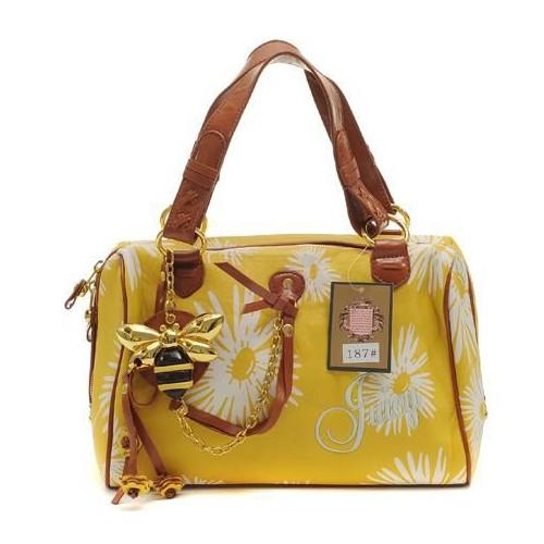 Juicy Couture Daphne Daisy Print Handbag Yellow