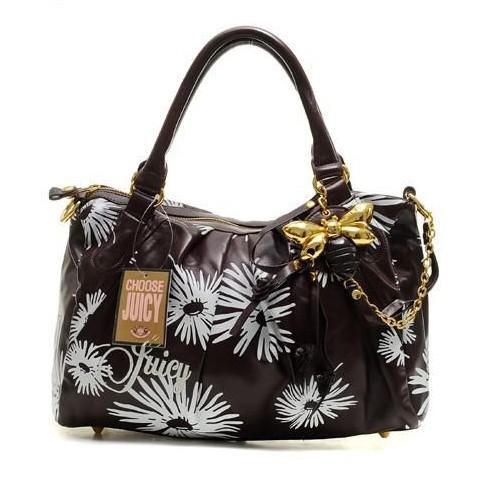 Juicy Couture Daphne Daisy Print Satchel Bag Black