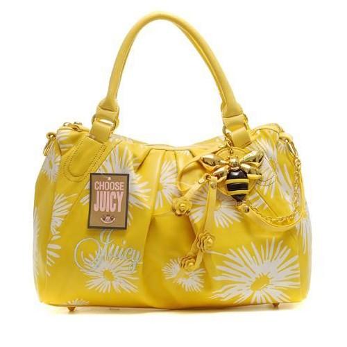 Juicy Couture Daphne Daisy Print Satchel Bag Yellow