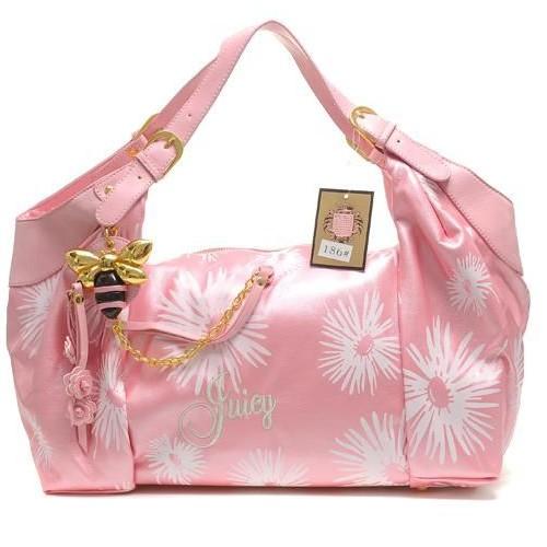 Juicy Couture Daphne Daisy Print Shoulder Bag Pink