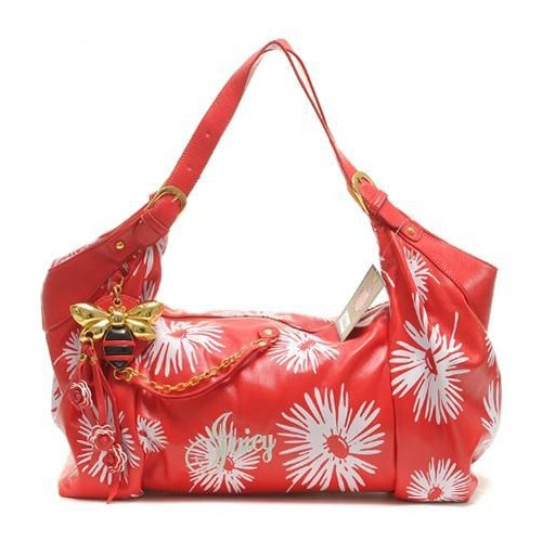 Juicy Couture Daphne Daisy Print Shoulder Bag Red