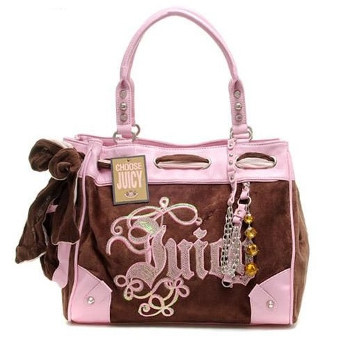 Juicy Couture Daydreamer Crest Handbag Coffee-Pink
