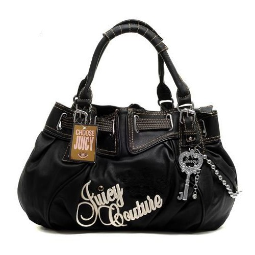 Juicy Couture Free Style Leather Handbag Black