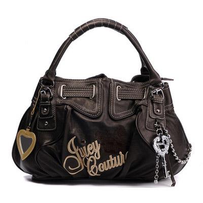 Juicy Couture Free Style Leather Handbag Dark Brown