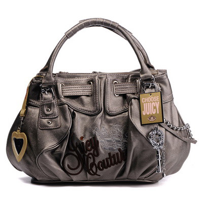 Juicy Couture Free Style Leather Handbag Grey