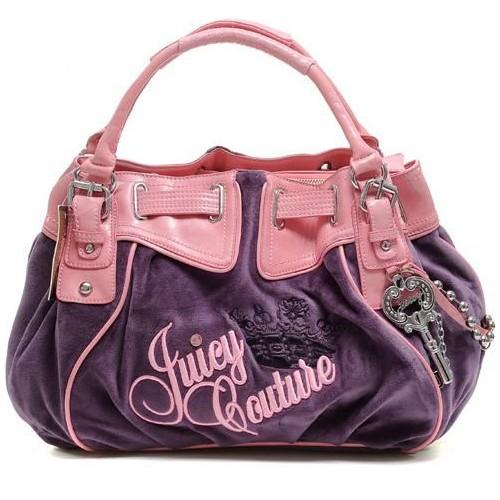 Juicy Couture Free Style Velour Handbag Purple