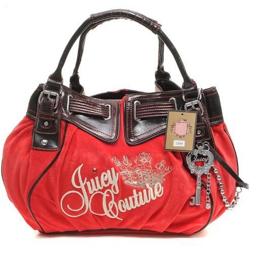 Juicy Couture Free Style Velour Handbag Red