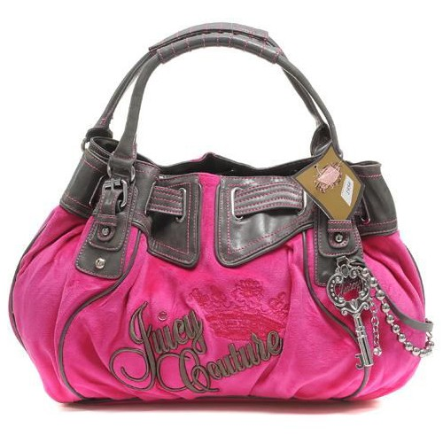 Juicy Couture Free Style Velour Handbag Shiny Mulberry