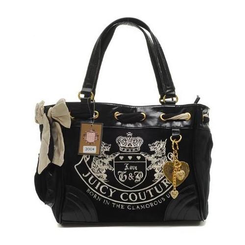 Juicy Couture Heritage Crest Daydreamer Handbag Black