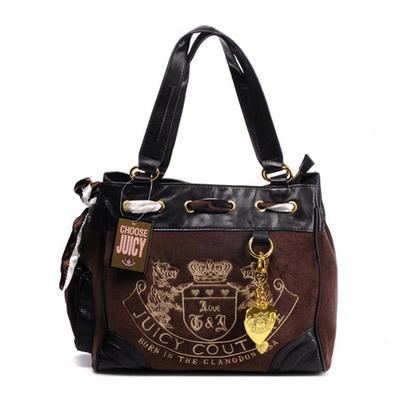 Juicy Couture Heritage Crest Daydreamer Handbag Chocola