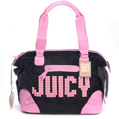 Juicy Couture Juicy Studs Shoulder HandBag Black-Pink
