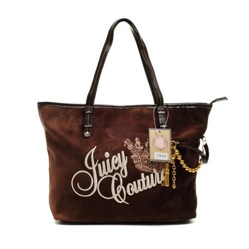 Juicy Couture Key cha rmed Tote HandBag Chocolate