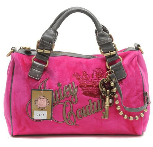 Juicy Couture Queen Velour Madge HandBag Mulberry