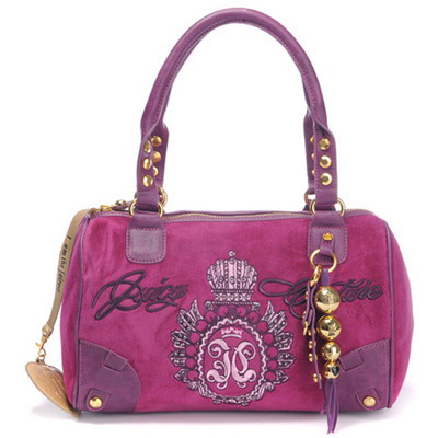 Juicy Couture Studded Velour Madge Handbag Mulberry