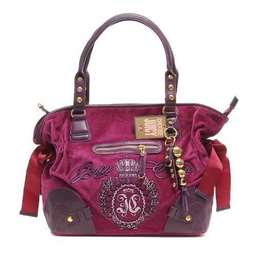 Juicy Couture Studded Velour Shoulder Bag Rose
