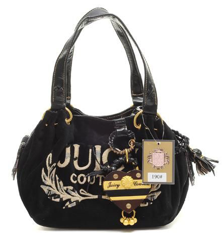 Juicy Couture Tassel Heart Baby Fluffy Handbag Black