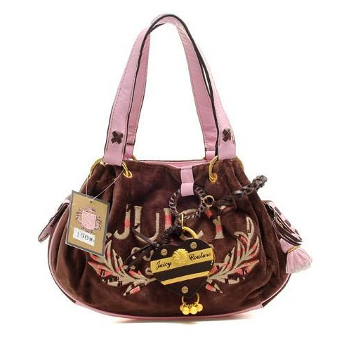 Juicy Couture Tassel Heart Baby Fluffy Handbag Coffee