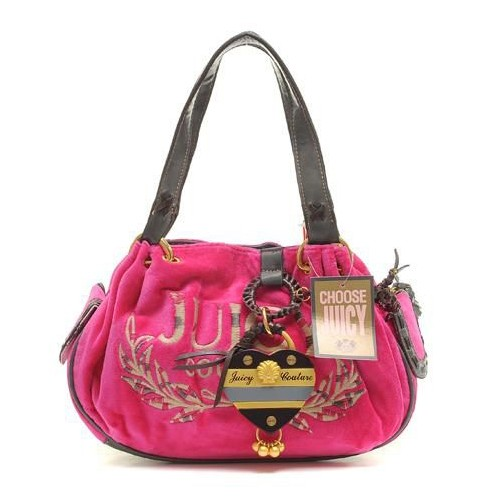 Juicy Couture Tassel Heart Baby Fluffy Handbag Mulberry